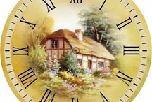 decoupage paper clock