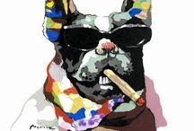 Tableau toile pop art new style / Le carton de cette rentrée 2014 sur www.peintures-sur-toile.com. Toiles pop art sur le thème des animaux. http://www.peintures-sur-toile.com/tableaux-modernes-carres-xsl-243_381.html