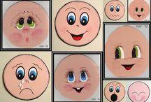 Рисуем кукольные лица... / роспись кукольного лица