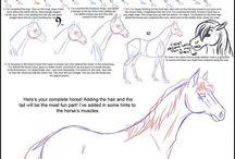 paard tekenen