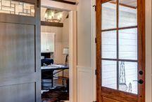 Our Sliding Barn Doors / Farinelli Construction's custom sliding barn doors in our own custom homes we've built.  / by Farinelli Construction & Design Studio