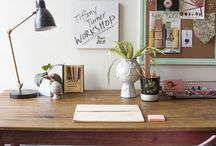 Home office / Ideas on creating a contemporary, eclectic home office.