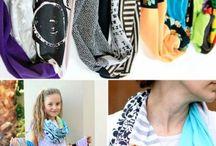 sewing scarfs etc