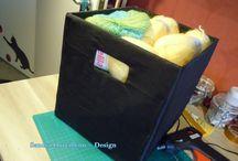 Lindas CaJiTaS para mis ovillos de lana / Ya no tengo mucho espacio para mis lanitas, pero encontré una idea que deseo compartir con ustedes... Unas hermosas y practicas cajitas.