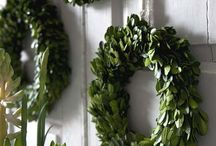 so many wreaths...so little room to hang them!