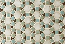 Tapestry™ Ceramic Tile Collection / Inspired by the Victorian Era decorative arts, the Tapestry™ Collection adds softer elements to contrast and compliment patterns in the collection. This beautiful ceramic tile collection with raised surfaces of floral and geometric patterns were drawn by hand, hand-cut and hand-glazed making this collection truly one of a kind. Available in 15 colors and blends for endless possibilities.