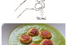 "Veggie velvet sauce with tiny turkey meatballs!  Check-out the recipe on my blog ""A pinch of mimi"""