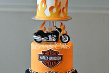 Motorcycles and Cars Cakes