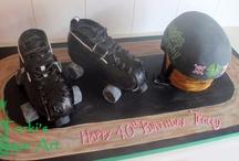 Roller derby cake