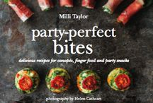 On our kitchen bookshelf / These are some of the tasty books from which we draw inspiration