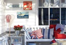 Red white blue fun living room
