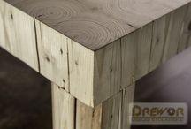Stoły, drewno