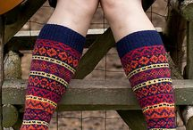 Photos of knitted socks