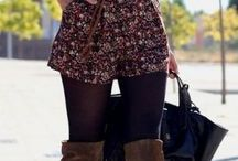 Tights for Fall & Winter / Outfit ideas with tights during the colder months - fall tights, winter tights, tights outfit fall, tights outfit winter, patterned tights, patterned tights how to wear, opaque tights, tights and shorts