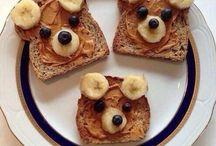 Happy child snack