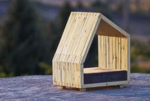 Dog house and beds