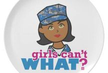 Girls Can't WHAT? Navy Girl / The coolest place for Navy Girls and the famous Girls Can't WHAT? gifts that you can choose from to have and to give.