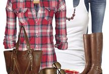 Fashion - flannel outfits