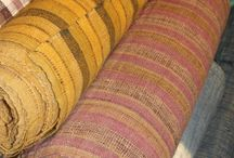 cotton and hemp textiles / Our collection of handwoven cotton and hemp fabrics dyed with natural dyes from the North East of Thailand and Laos