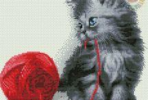 Haft Krzyżykowy - Kotki