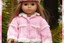 """Dolls - 18"""" Dolls Clothes Knitted & Crocheted"""