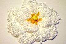 Crochet brooches & corsages