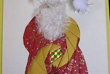 Cards...Folds...Iris Patterns...Christmas