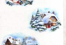 Domki w śniegu