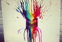 Crayon Art / Splashes of colour!
