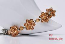 Swarovski Bracelets - Bubbles / Bransoletki wykonane z kryształów Swarovskiego BICONE i japońskich, szklanych koralików MIYUKI.