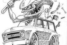 kresby aut