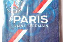 Décoration de fête et Vaisselle Jetable PSG / Pour les fans du Psg, toute la décoration de fête aux couleurs du Paris Saint Germain