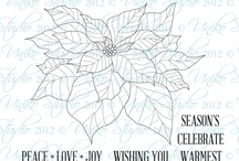 Uniko Pure Florals: Poinsettia / Projects featuring Uniko's Pure Florals: Poinsettia clear stamp set
