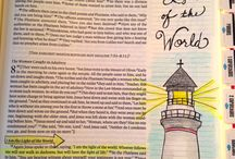 John--Bible Journaling by Book / Bible Journaling examples from the book of John