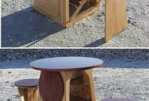Table and chairs combined