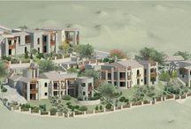 Architettura in Sardegna 4 / Villaggio turistico-residenziale (Macr. R1) in Loc. Monti Capaccia - fraz. di San. Pasquale - Tempio Pausania