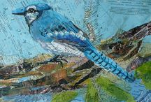 Art - Collage - Susan Schenk / I've met and taken a class of Susan's.  I love her style and technique and one you don't see.  She uses recycled magazines and her collages look like watercolors.