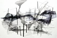 architecture/interior/space drawings
