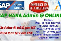 Attend Online LIVE SAP HANA Admin FREE DEMO from AcuteSoft @ 23rd Mar 6:30PM IST & 23rd Mar 9AM EST