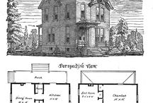 House plan / The interesting architecture of the houses and their plans.
