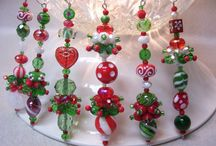 Lampwork bead christmas