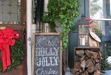 Christmas porch / Christmas porches