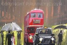 London / Some of my paintings of London