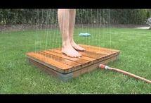 Spodní sprcha - zahrada