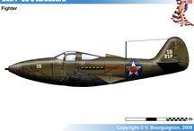WW II USA MILITARY AIRPLANES