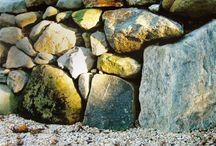 Rock and Boulder Landscape Design / A collection of rock and boulder landscape design
