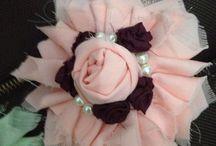 Shabby brooch / Fabrics flower