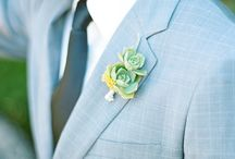 Wedding Ideas - Bouquets & Boutonnieres / Flower ideas for the bouquets and boutonnieres. Primary colour: kelly green.  Secondary colour: clover/sage. Ivory. / by Nikki C