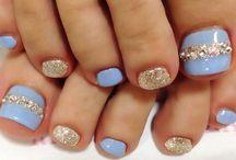 Toes nail and toe art