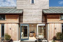 Contemporary Timber Frame Exteriors / Fresh designs for timber framed houses: eco-friendly, minimalistic, sharp edges.